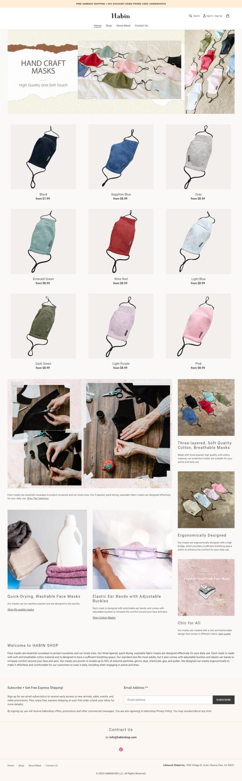 shopify-webdesign-global-글로발셀링-드랍쉬핑-mask-la-WEBAGENCY